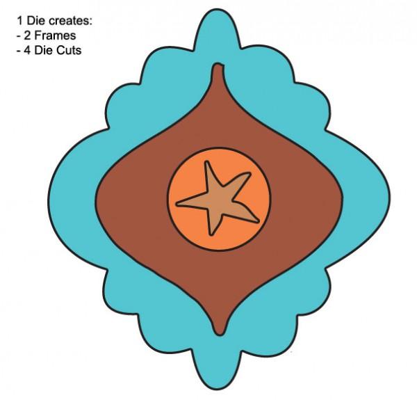 DD Rahmen Seestern / star fish FRM106