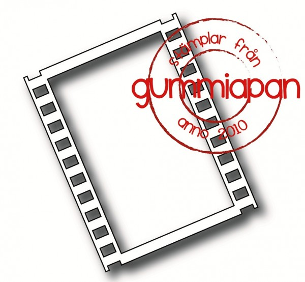 Gummiapan Stanzform Diarahmen gross / Large Filmstrip Stort Negative D190113