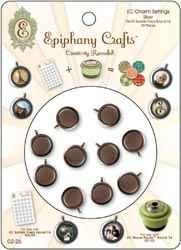 Epiphany Metal Charms silver round 14 / 1,4 cm ( 02-26)