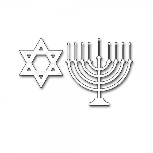 Die-namics Stanzform Kerzenleuchter/Hannukkah Love & Light MFT-3
