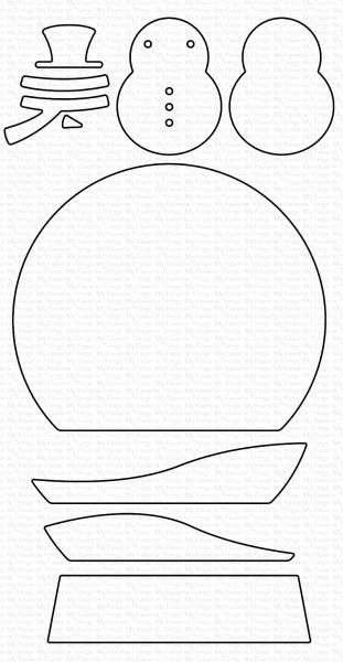 Dienamics Stanzform Schneekugel u. Schneemann / Classic Snow Globe MFT-1618