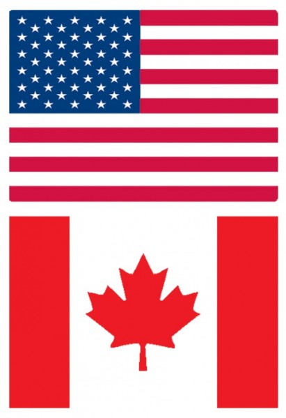 Cheery Lynn Metall-Embossing-Plate XL Flagge USA/Canada-Flags US E102