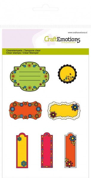 CraftEmotions Clearstempel-Set Etiketten Folklore 130501/1030
