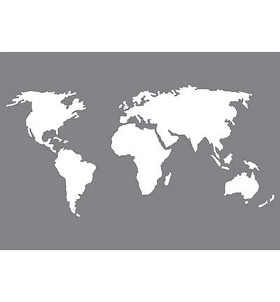 Pronty Mask Stencil A 5 Weltkarte KLEIN / World Map Graphic 470.802.070