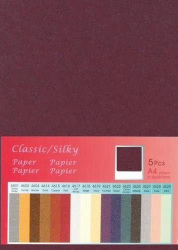 Papier A 4 Classic Silky AMETHIST ( 5 Blatt ) 652000/4621