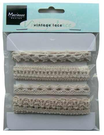 Marianne D Bänder Vintage Lace off-weiss/ creme JU0825