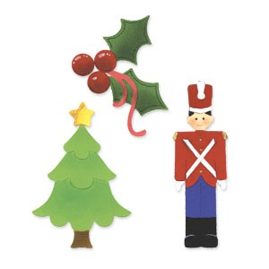 Sizzix Stanzform Sizzlits MEDIUM 3-er Weihnachten / festive Christmas 656283