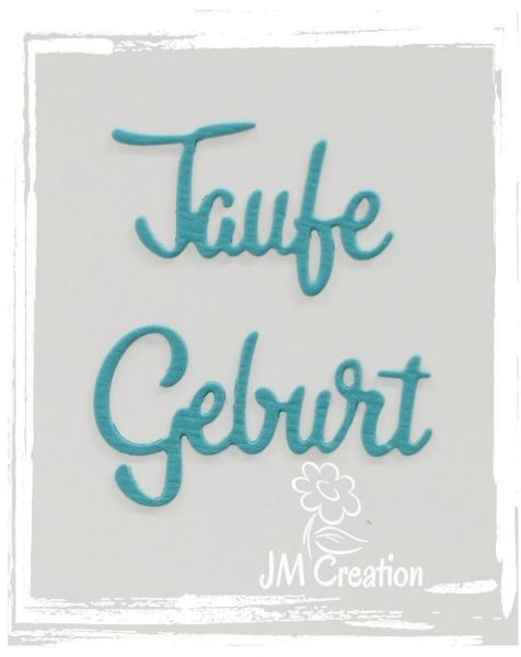 JM-Creation Stanzform ' Taufe Geburt ' 03-00183
