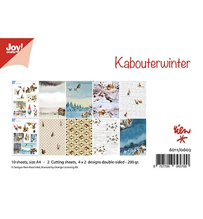 JoyCrafts Papier-Set A 4 Kabouterwinter 6011/0603