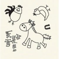 Basic Grey Clear Stamps Wet Hen 2088-7