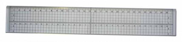 Acryl-Lineal durchsichtig mit Stahlkante in Zentimeter CT21495