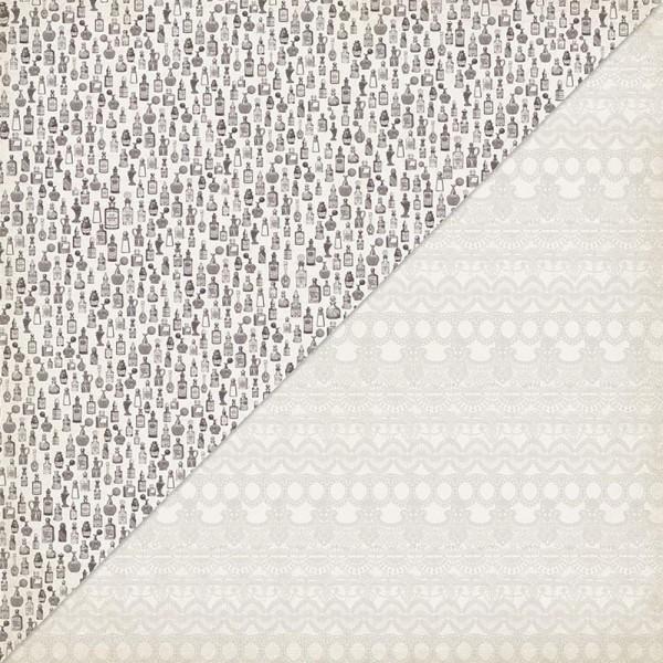 Authentique Scrapbookpapier 30,5 cm x 30,5 cm Parfum-Flaschen / Dame Paper # 4 CDA12-004