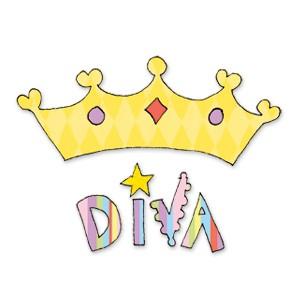Sizzix Stanzform BIGZ Wort Diva u. Krone / phrase diva w/crown 655834