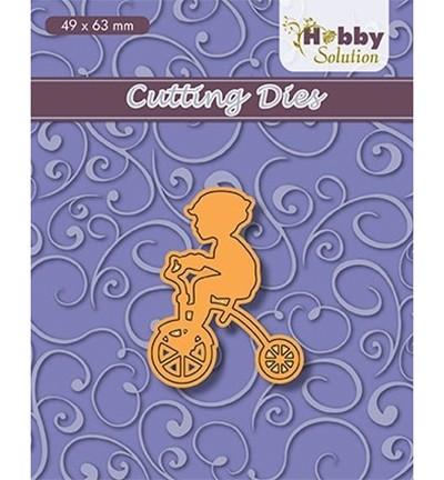 Nellie Stanzform Junge auf Dreirad / Little Boy On Tricycle HSFD031