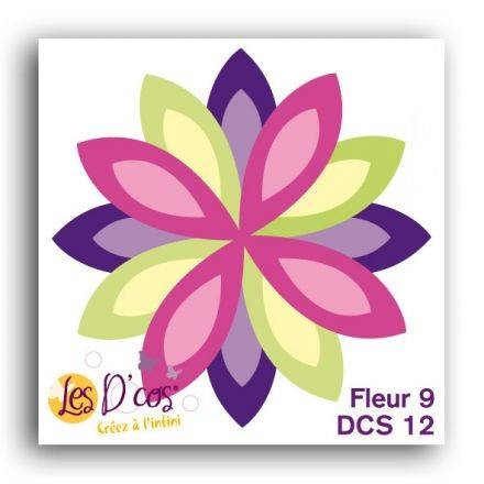 Toga Stanzform Blume 9 / Fleur 9 DCS12