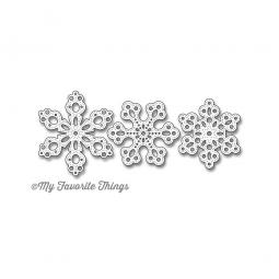 Die-namics Stanzform Stax Pierced Snowflakes MFT-544
