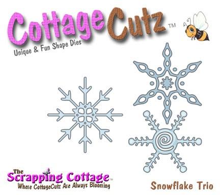 Schneeflocken Trio / snowflake trio SC CC4x4-119