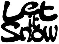 """Die-Versions Stanzform """" Let it Snow """" DVJ-079"""