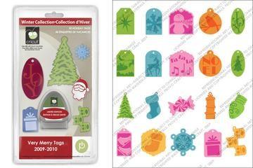 Cricut Cartridge Solution Winter Very Merry Tags 20-0051