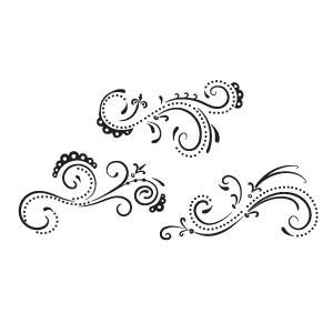 Sizzix Clear Stamps Florales & Wirbel # 2/flourish & swirls # 2 656330
