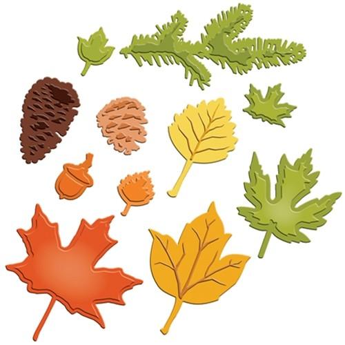 Spellbinders Stanz-u. Prägeform Blätter / Fall Foliage S5-120
