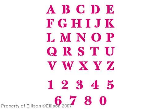 Ellison Design Stanzformen Thin Cuts Alphabet SERIF STENCIL ( 35 Stanzformen ) 22284