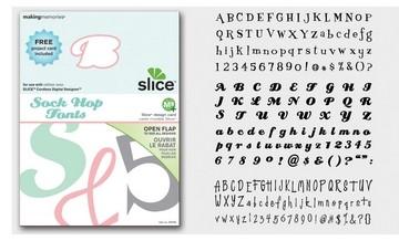 SLICE Design Karte Sock Hop Fonts ( MS+ ) 33748