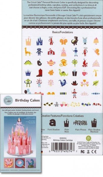 Cricut Cartridge Birthday Cakes 2000224