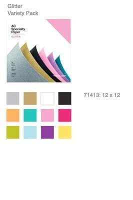 "American Crafts AC Specialty Paper Glitter 12 "" x 12 "" ( 30,5 x"
