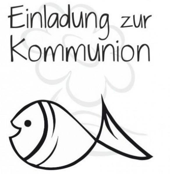 Perfekt Jm Creation Stempel Einladung Zur Kommunion   Fisch 07 00060 | Jm,  Einladungsentwurf