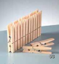Holzklammer groß 7,4 cm 1402403