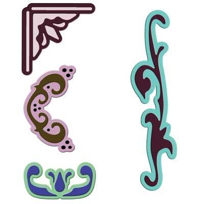 Spellbinders Stanzform dekorative Elemente 1 / decorative elements 1 S3-145