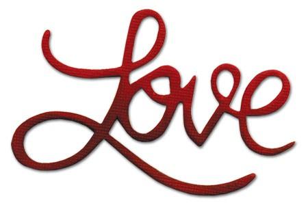 """Sizzix Stanzform Originals MEDIUM """"Love """" phrase Love 656572"""
