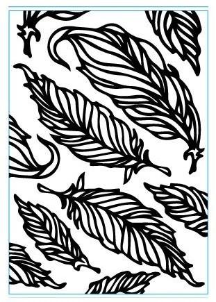 Elizabeth Craft Prägefolder Federn / Feathers E108