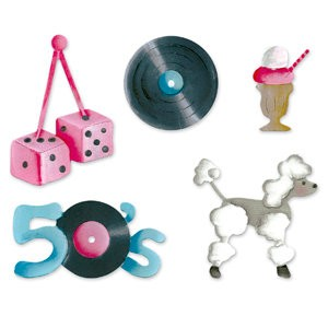 Sizzix Stanzform Sizzlits SMALL 4-er Set 50's 655229