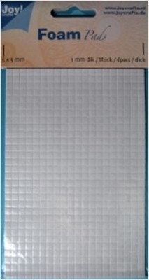 Klebepads WEISS Quadrate 5 x 5 mm x Dicke 0,5 mm 6500/0000