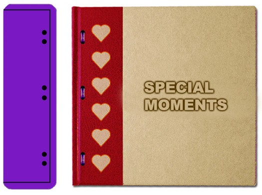 DD Mini Book Special Moments Hearts and Ribbons BE101LARGE