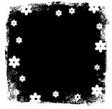 Memory Box Stempel Quadrat mit Blumen/Distressed flowers D1858