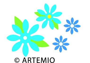 Artemio Happycut Stanzformen 6,8 x11 cm Blume # 12 18023003