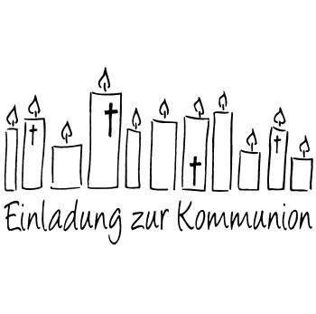 """Stempel mit Kerzen """" Einladung zur Konfirmation """" 28-686-00"""