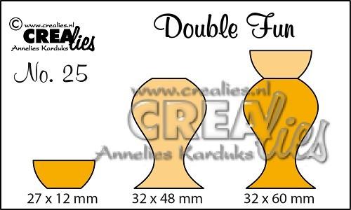 Crealies Stanzform Double Fun Vasen 4 CLDF25