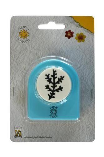 Nellie Floral Punch Motivstanzer Zweig FLP004 ( hellblau )