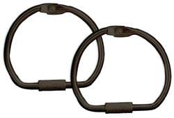 D-Ring schwarz / black ( 1 Stück ) 12550