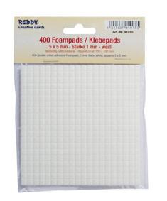 Reddy Cards Klebepads 5 mm x 5 mm, Dicke 1 mm weiss 91015