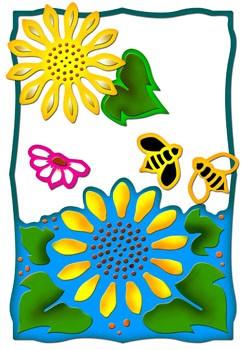 Spellbinders Stanzform Sonnenblumen-Garten / sunflower garden S5-004