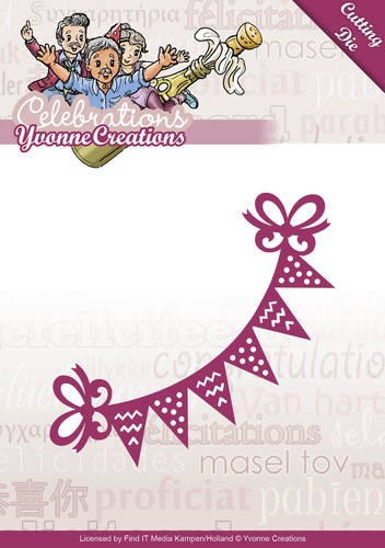 Yvonne Creations Stanzform Wimpel / Bunting YCD10049