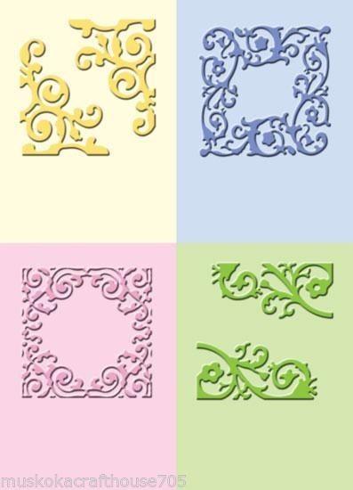 Cuttlebug Prägefolder-Set formale Quadrate / formal squares