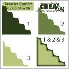 Crealies Ecke # 4 & 6 creative corners # 4 & 6 (grün ) CLCC-04