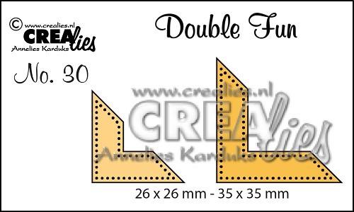 Crealies Stanzform Double Fun Ecken mit Punkten Nr. 30 CLDF30