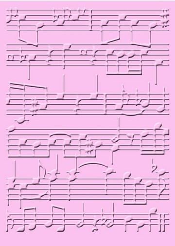 Cuttlebug Prägefolder extra groß Marg´s Melodie 2000086